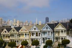 Seven Ladies. Postcard Row Houses, San Francisco, California Royalty Free Stock Photo