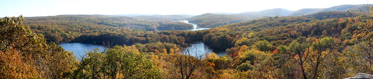 Seven lakes panorama Stock Images