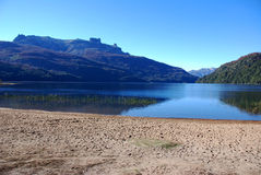 Seven lakes in Patagonia. View of a lake an the mountains in Patagonia (Argentina Royalty Free Stock Photo