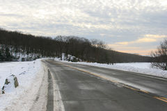 The Seven Lakes Road, upstate New York. Almost sunset landscape at the seven lakes road, near bear mountain park, upstate New York, USA Royalty Free Stock Photos