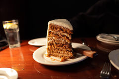 Seven layer carrot cake Royalty Free Stock Images