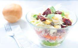 Seven-layer salad with egg, tuna, dried tomatoes Stock Photography