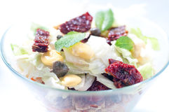 Seven-layer salad with egg, tuna, dried tomatoes Royalty Free Stock Photos