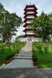 Seven layers of the pagoda. Singapore yuhua park, seven layers pagoda Stock Photography