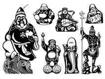 Seven Lucky Gods Royalty Free Stock Images