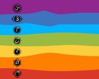 Seven main chakras, sketch foy your design Stock Photos