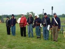 Seven Man Canon Crew Royalty Free Stock Photos