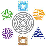 Seven  maze Royalty Free Stock Photo