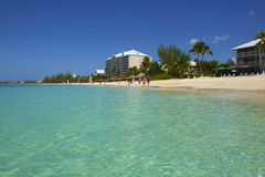 Seven Mile beach in Grand Cayman, Caribbean Royalty Free Stock Photo