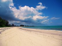 Seven mile beach on Grand Cayman island. Exotic, tourism stock image