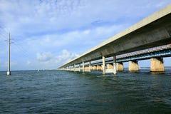 Seven Mile Bridge in the Keys Royalty Free Stock Photo