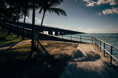 The Seven Mile Bridge, on Overseas Highway in Marathon, Florida. Royalty Free Stock Image