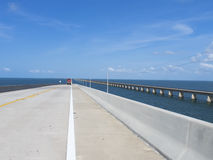 Seven Mile Bridge, to Key West. The Seven Mile Bridge is a famous bridge in the Florida Keys, in Monroe County, Florida, United States. It connects Knight's Key Stock Photos