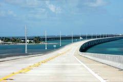 Seven miles Key West Bridge stock images