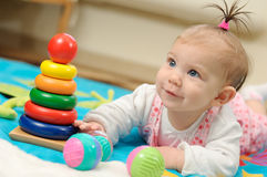 Seven months old happiness girl Royalty Free Stock Photos