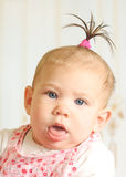 Seven months old happiness girl Royalty Free Stock Photo