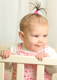 Seven months old happiness girl Stock Photo