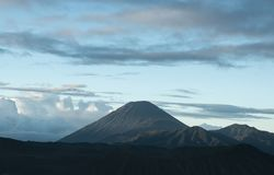 Seven or Muhomeru is the highest volcano on the island of Java i royalty free stock images