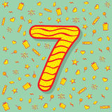 Seven number icon design Royalty Free Stock Images