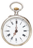 Seven o'clock on the dial of retro pocket watch Royalty Free Stock Photos