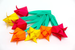 Paper tulips Royalty Free Stock Photos