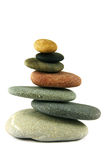 Seven pebbles pyramid Stock Images