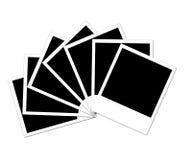 Seven photos. Seven polaroid photos isolated on a white background Stock Photography