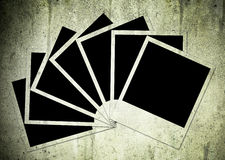 Seven photos. Isolated on a grunge background Stock Image