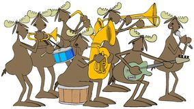Seven piece moose band Royalty Free Stock Images