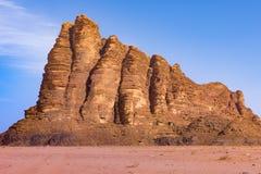 Seven Pillars of Wisdom, Wadi Rum stock image