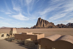 The seven pillars of wisdom,Wadi Rum Royalty Free Stock Photo