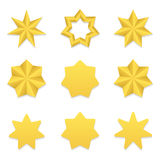 Seven poin stars collection Royalty Free Stock Photo