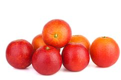 Free Seven Red Bloody Oranges Stock Photo - 152219980