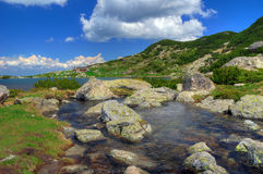 Seven Rila Lakes, Bulgaria - summer over The Fish lake Stock Images