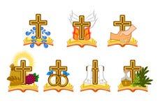 The seven sacraments. In catholic church Illustration Stock Photography