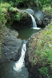 Seven Sacred Pools, Maui. Waterfalls in at the Seven Sacred Pools, Maui Royalty Free Stock Image