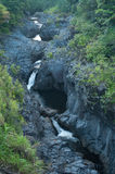 Seven Sacred Pools in Maui Hawaii. This is the tropical 7 sacred pools found in Hana at Maui in Hawaii stock image