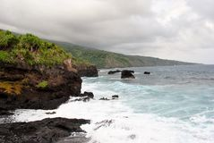 Seven Sacred Pools of Ohio, Maui, Hawaii stock photo