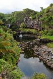 Seven Sacred Pools of Ohio, Maui, Hawaii Royalty Free Stock Image
