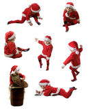 Seven Santa helpers Royalty Free Stock Images