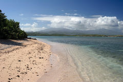 Seven seas beach, Puerto Rico. Seven seas beach with a terrific view on el Yunque rainforest, Puerto Rico Stock Photo