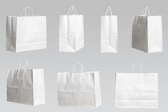 Seven shopping bags Stock Photos