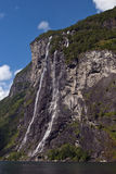Seven sister falls. Seven sisters falls in geirangerfjord (norway), a UNESCO world heritage Stock Photography