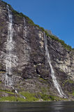 Seven sister falls from below. Seven sisters falls in geirangerfjord (norway), a UNESCO world heritage Stock Image