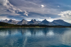 The seven sisters. Mountain ridge along the coast of Norway Stock Photography