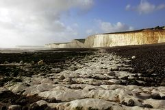 Seven Sisters. A rocky beach located on the south coast of the UK Royalty Free Stock Photography