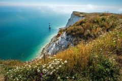 Seven Sisters Beachy Head Landscape. Very beatiful view on the lighthouse of Beachy Head. It is located close to the town of Eastbourne in the county of East Royalty Free Stock Images