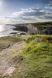 Seven Sisters from Birling Gap Summer evening. Stock Image