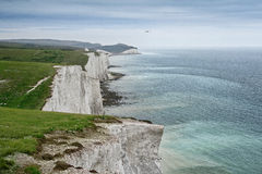 Seven sisters chalk cliffs Royalty Free Stock Photos