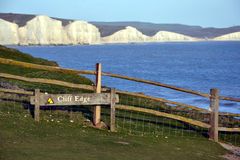 Seven Sisters chalk cliffs, East Sussex, England Stock Image